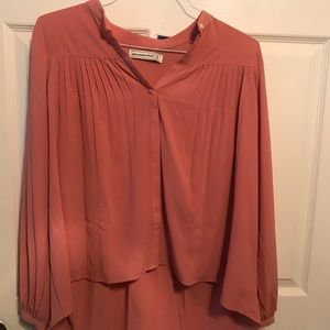 High-Low Peach Colored Blouse